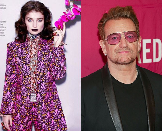 **Eve Hewson** Father: Bono When she's not out saving whales with her humanitarian rockstar papa, she's looking tres chic in front of the lens. Why she is yet to front a purple shades campaign, we don't know.