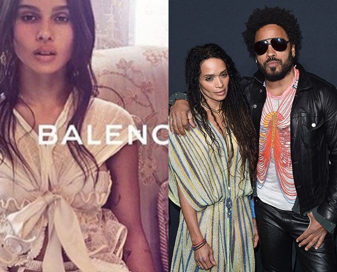 **Zoe Kravitz** Parents: Lenny Kravitz and Lisa Bonet Yes she was a bride alongside Riley in Mad Max. Yes she was the face of Vera Wang perfume. Yes she walked in Balenciaga's show last year. Yes she is a legend.