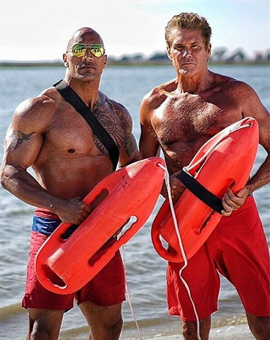 1. Just The Rock. And The Hoff. Testosterone levels = high.