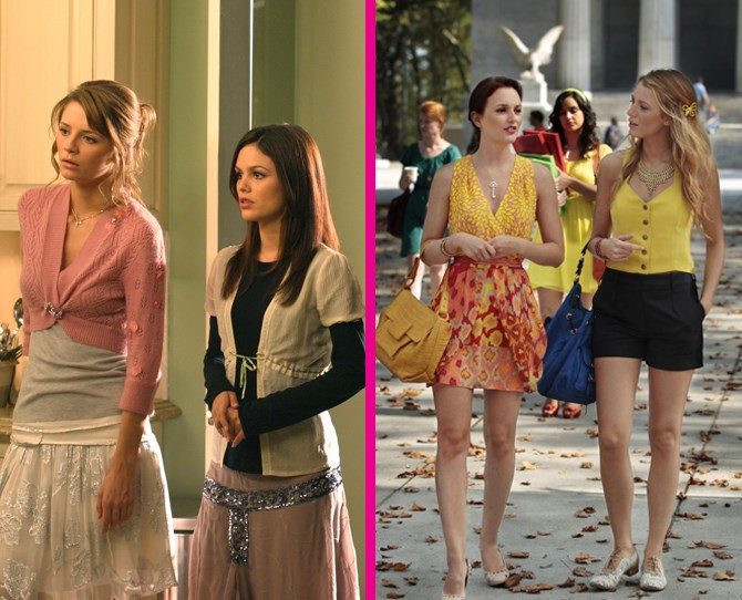 **Semi-coordination** Didn't you just love it when Summer and Marissa / Blair and Serena kind of, almost coordinated their outfits? #FriendshipGoals ** **