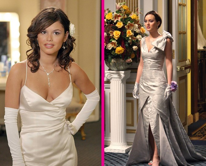 **Cotillion** Ahhhh, Cotillion. That super American coming-of-age event that we only know about because of shows like *The O.C*. and *Gossip Girl*. While four years apart, Summer and Blair's looks were equally gorge. ** **