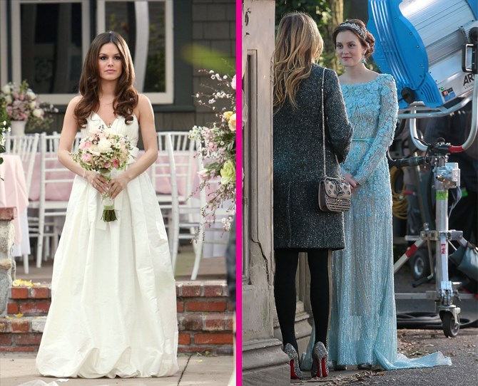 **Wedding dresses** Blair threw a total fashion curve ball by marrying Chuck in ice blue Ellie Saab, while Summer kept things California classic for her nuptials to Seth Cohen (<3). ** **