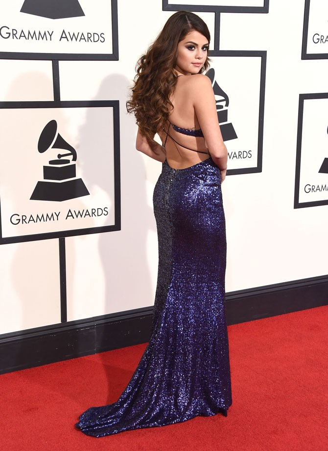 **Sexiest Red-Carpet Look – Selena Gomez   **She's got those poses down to an art.