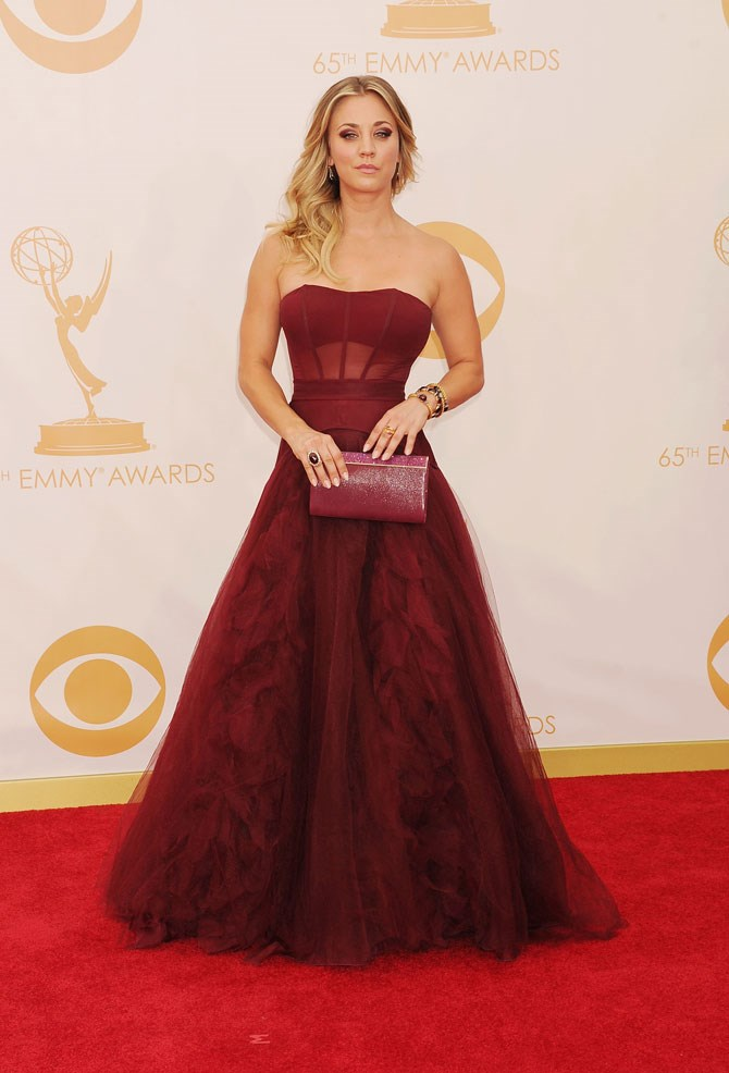 She was absolutely magestic in burgundy at the 2013 Emmy's.
