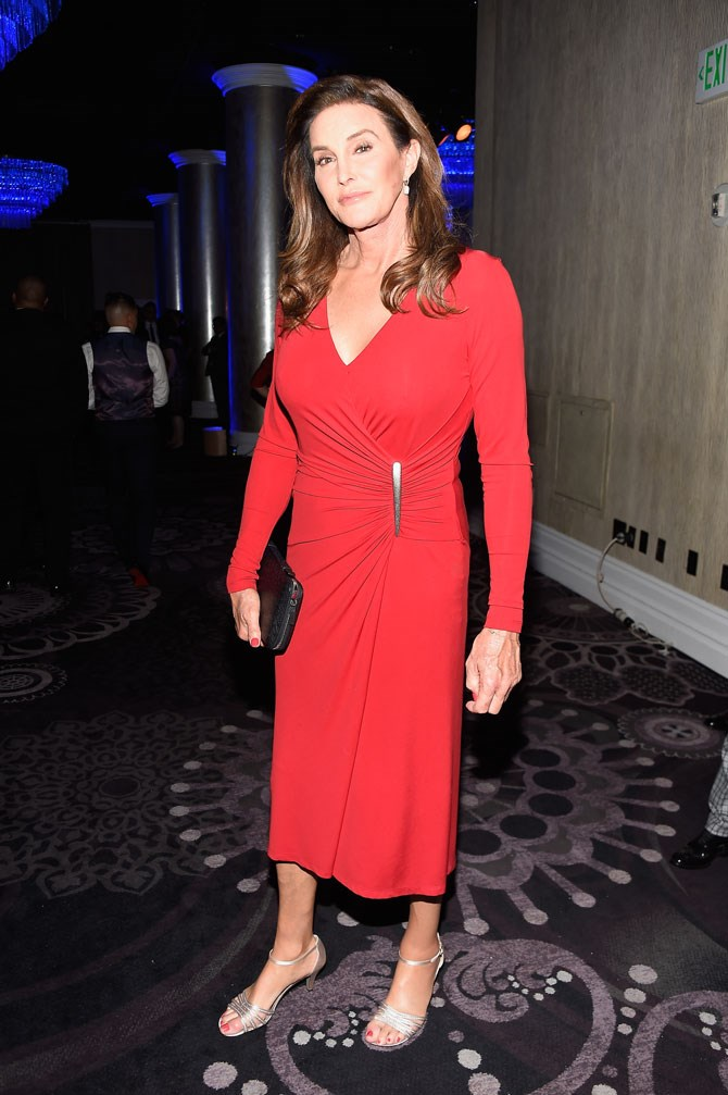Caitlyn Jenner is all about those wrap dresses and kitten heels.