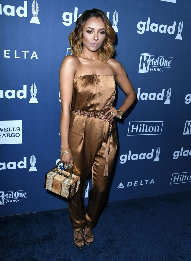 Kat Graham was really feeling those bronze vibes at the GLAAD Media Awards.
