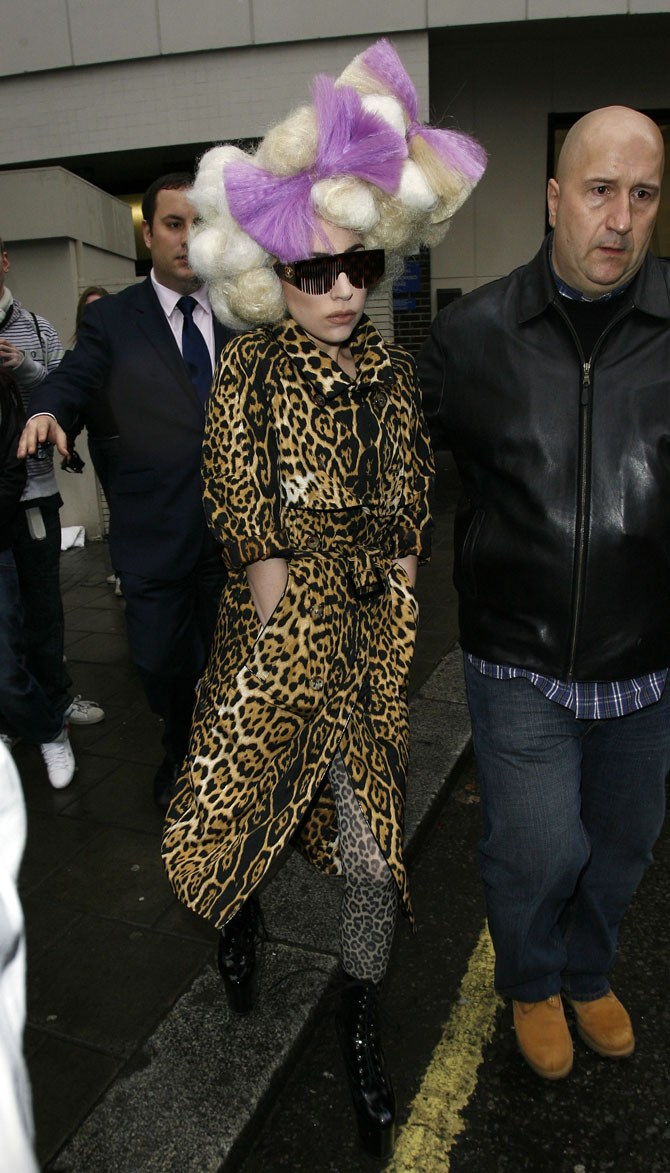 Maybe she thought the leopard print wasn't enough?