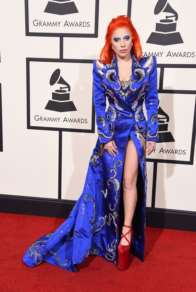 This year's Grammy Awards red carpet may have seen Gaga take things back to drama town, but it was, of course, all in honour of the late, the great, David Bowie. And my goodness what a performance she gave.
