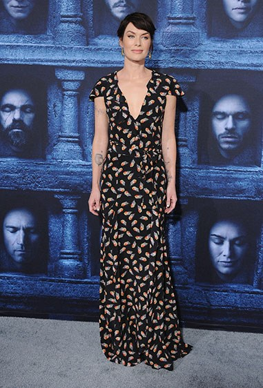 Cersei aka Lena Headey has recovered from her walk of shame in impeccable style. Love Lena's look.