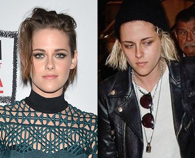 Kristen Stewart hasn't had a major hair change for quite some time, but she's *just* been spotted at LAX with platinum hair stuffed underneath a beanie. We wonder if she's hiding a new cut too?