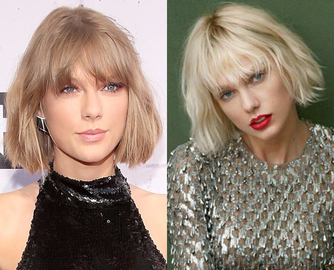 "Taylor Swift updated her hair for [US Vogue's May cover shoot](http://www.vogue.com/13421986/taylor-swift-may-cover-maid-of-honor-dating-personal-style/|target=""_blank"") and with the new super bleached bombshell hue she could *easily* be mistaken for a young Courtney Love."