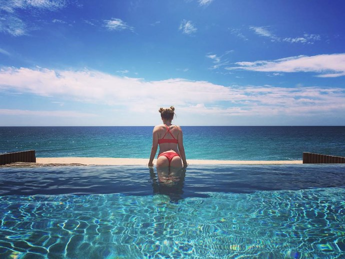 Oh, hi there, Ashely Tisdale's bum. We mean!... buns.