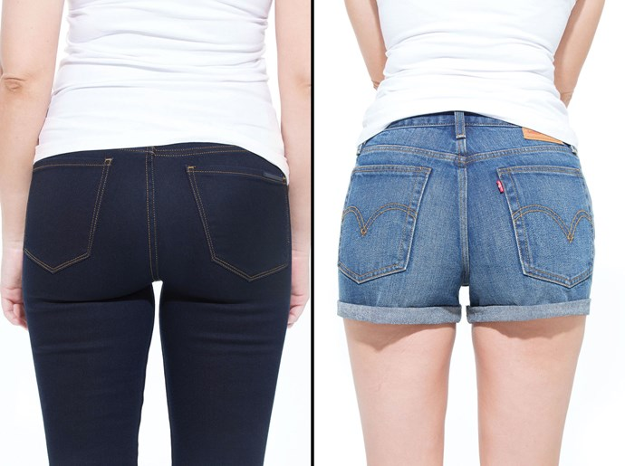 """Levi's shorts are my favourite denim shorts to wear and have been since high school. Unfortunately, this particular style didn't do me any favours. I wanted a bubble butt but with these shorts, I think my bubble burst."""