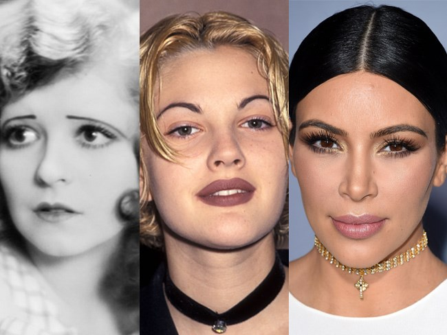 Eyebrow trends have changed A LOT over the years