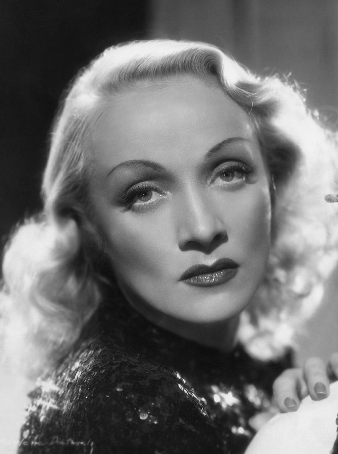 **The 1940s** This period saw Marlene Dietrich still bringing those curves, but a less exaggerated version.