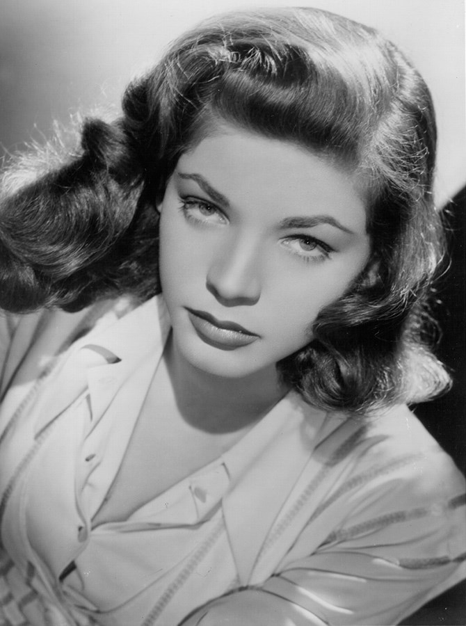 Lauren Bacall also made a different kind of eyebrow popular during the '40s – a heavier front and high arch.