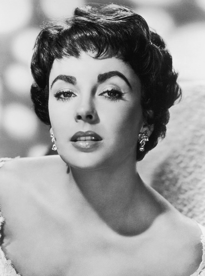 Elizabeth Taylor brought the drama to the 1950s with a lusher, stronger eyebrow, but still kept the era's signature high arch.