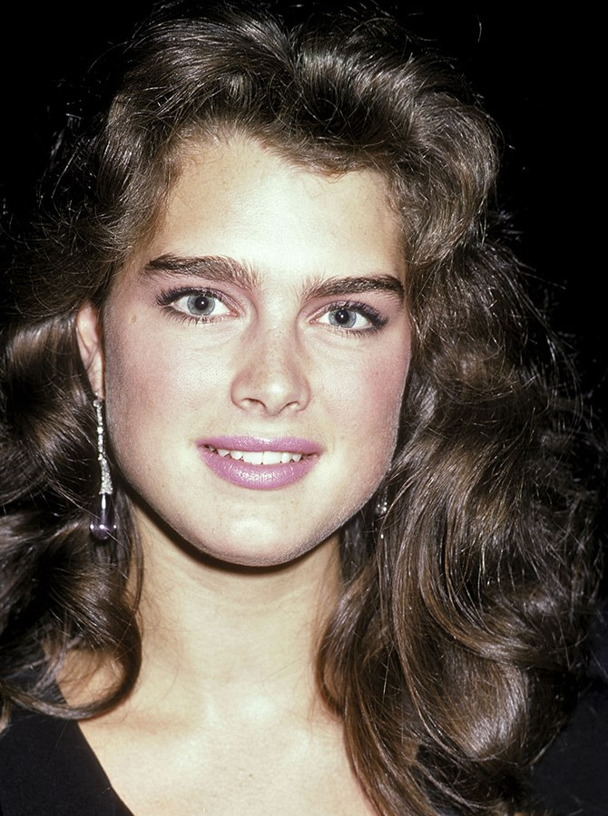 **The 1980s** But the '80s bounced the eyebrows back to their natural state, with everyone worshipping Brooke Shields' bushier, untouched power brows.