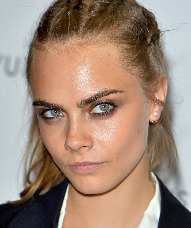 **Nowadays** Cara Delevingne's eyebrows are her trademark and they've managed to convince womankind to step away from the tweezers. They're feathery and natural, yet still hella bold.