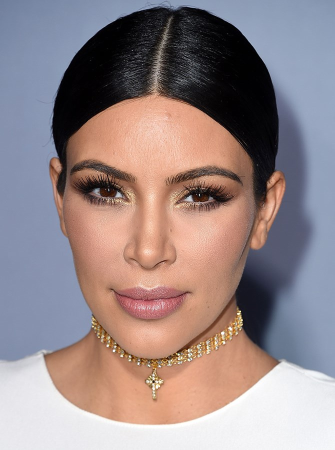 Kim Kardashian's manicured-to-perfection eyebrows are also trending everywhere we look, and these babies start, peak and finish in all the right places to flatter her face shape.