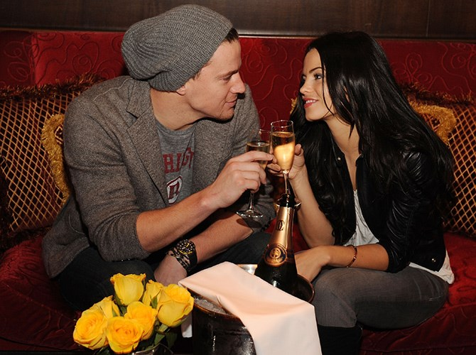 Channing totes wined and dined like the good man he is.