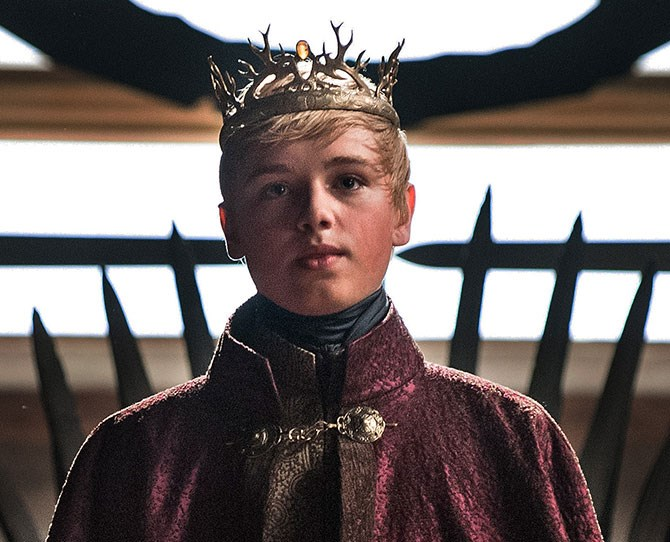 **King Tommen** Before anyone gets their knickers in a proverbial twist, Dean Charles Chapman is actually 18. But it's still a bit creepy as he's just so darn cuuute. Disclaimer: we don't full-on fancy him. It's more like that weird crush you had on Harry Styles circa 2011. Like, you can appreciate he's going to be hot property in a few years. And he'd also make you his ~kween~.