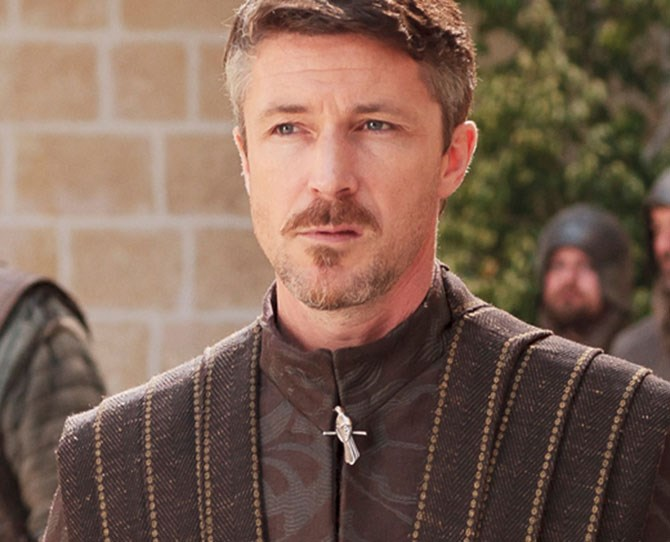 **Littlefinger** There is something about the pimp daddy of Westeros aka Petyr Baelish that we can't put our littlefinger (lols) on. Is it the mad mo goals? The fact he wears a Hefner-esque robe? The messed-up accent? WHO KNOWS.