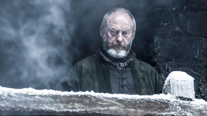 **Davos Seaworth** A slightly creepy addition perhaps but the noble Davos would literally be the most protective, loving and loyal dude in all of the Seven Kingdoms. He wouldn't be tempted away by seductive red-headed biatches. And furrowed brows are sexy, right? <3