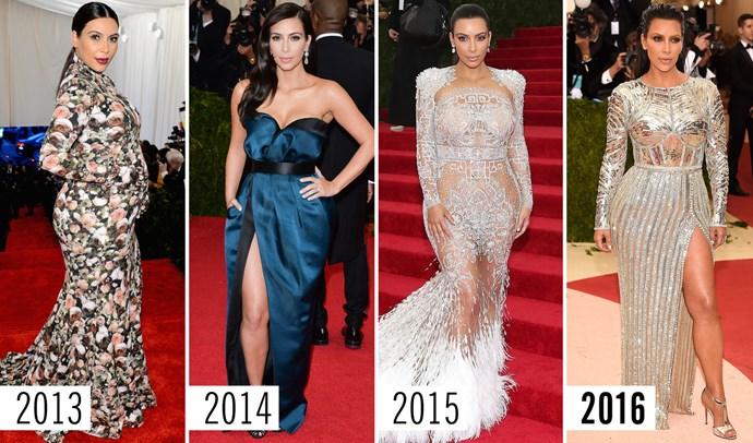 **1. Kim Kardashian   **Every glamazon has to start somewhere, just not always with matching gloves.