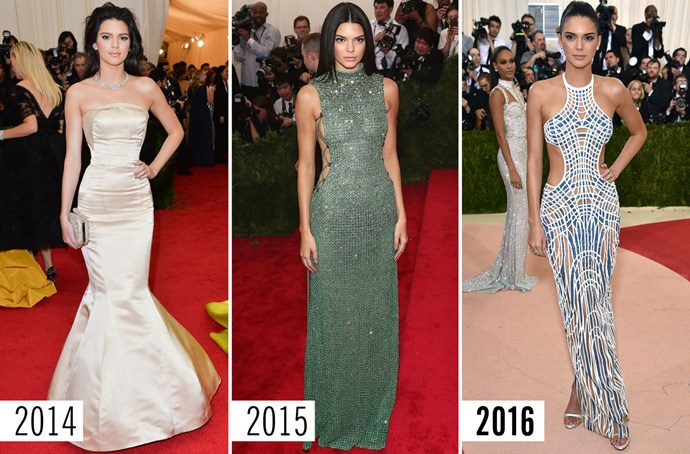 **5. Kendall Jenner**    A little more skin every year. If this trend continues, next year Kendall will be legit naked.