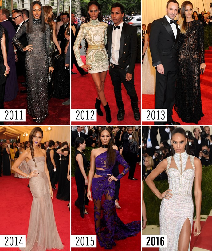 **13. Joan Smalls   **No one wears a high-neck gown like Joan Smalls.