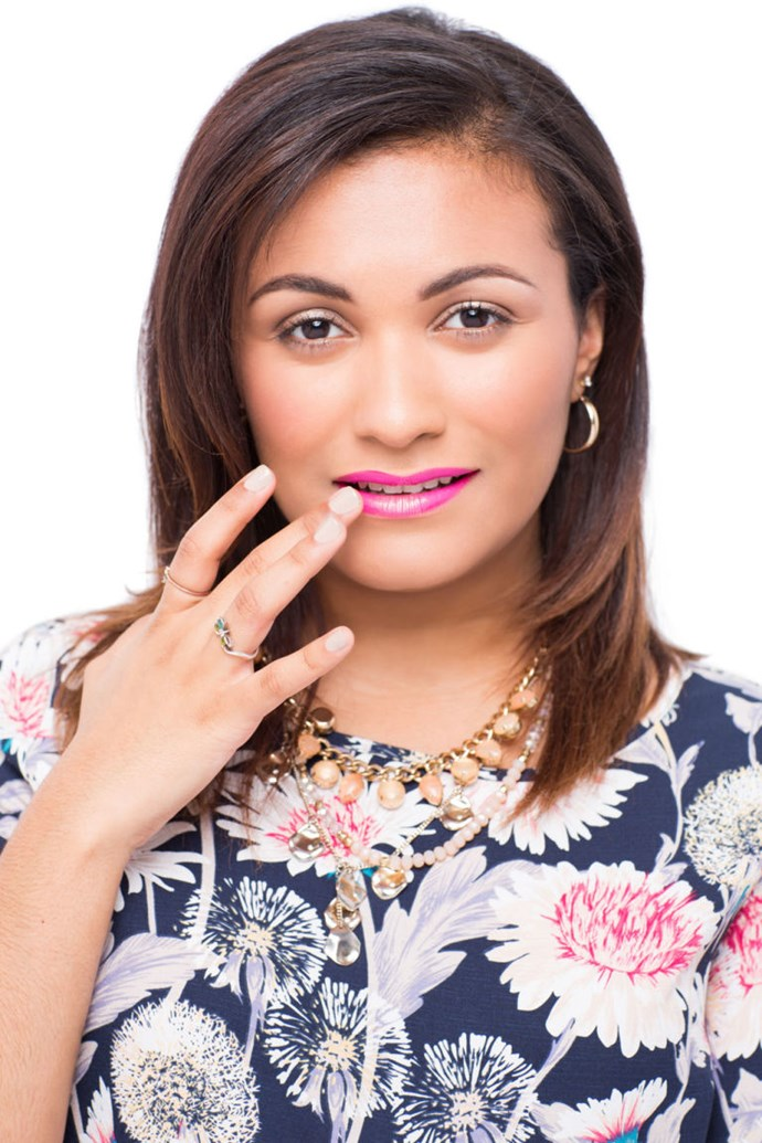 **8.** Dab highlighter onto the middle of your bottom lip to get a fuller effect.**