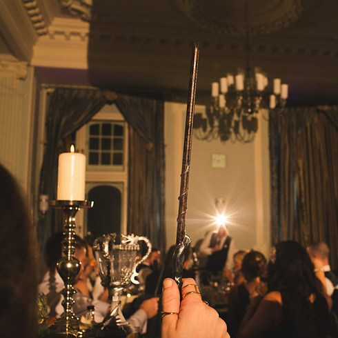 The 130 guests were all gifted with their own handmade wands…