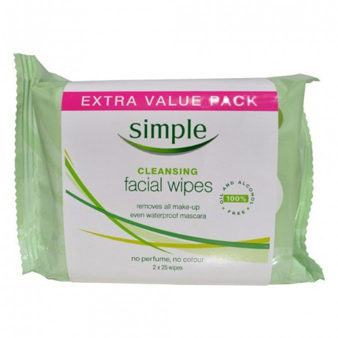 """**4. [SIMPLE Cleansing Wipes Twin Pack 50 wipes](https://www.priceline.com.au/simple-cleansing-wipes-twin-pack-50-wipes target=""""_blank""""),** $10.99 For those nights when you just couldn't be bothered..."""