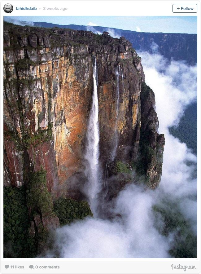"**1. ANGEL FALLS, VENEZUELA**    [Angel Falls](http://salto-angel.com/en|target=""_blank"") is the tallest waterfall in the world and is, unsurprisingly, pretty difficult to get to. But if you are willing to fly, take a boat, and then hike to the falls, it will almost certainly be well worth it."