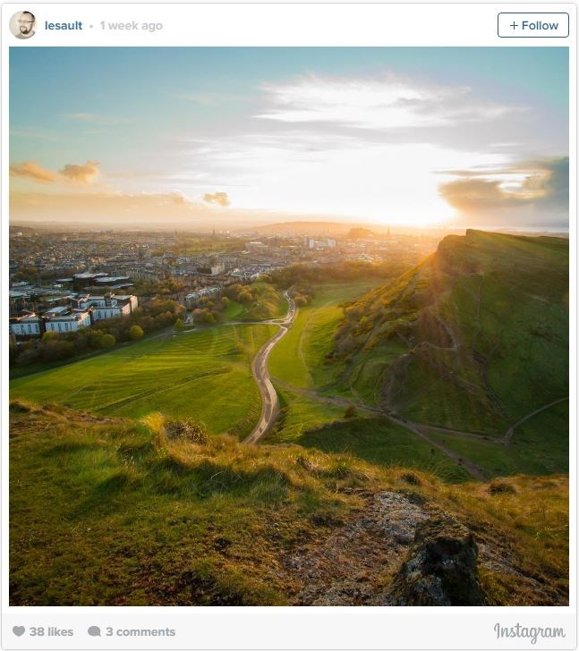 "**5. ARTHUR'S SEAT, EDINBURGH, SCOTLAND**    [Arthur's Seat](http://www.lonelyplanet.com/scotland/edinburgh/sights/landmarks-monuments/arthur-s-seat?lpaffil=lp-affiliates|target=""_blank""), a now-dormant ancient volcano, gives some of the best panoramic views of the Scottish city, including views of both Edinburgh Castle and the city's famous Royal Mile. A short 20-minute hike along the stone steps will take you up to the mountain's top, overlooking the city and Scottish hillside."