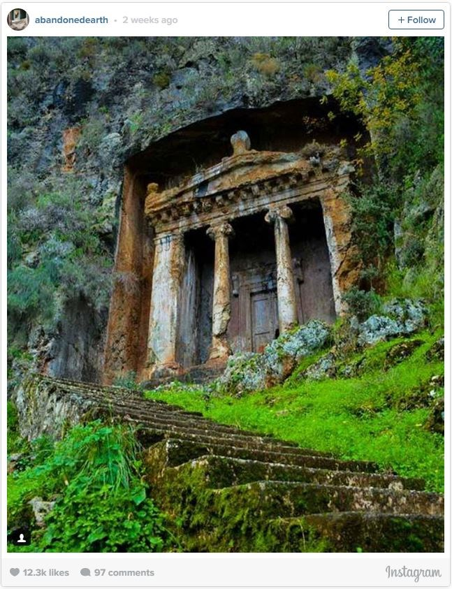 "**7. LYCIAN ROCK TOMBS, FETHIYE, TURKEY**    With intricate ruins carved into the mountainside, the hike up to the [Fethiye Tombs](http://www.turkeysforlife.com/2012/03/exploring-fethiye-lycian-rock-tombs-in.html|target=""_blank"") in Turkey offers gorgeous views of the city below, as well as a glimpse into an ancient world."