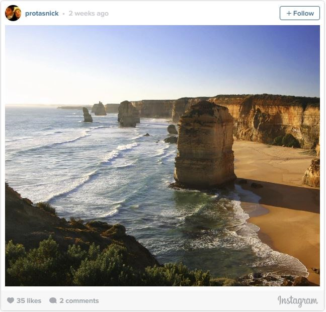 "**8. THE TWELVE APOSTLES, AUSTRALIA   **If you ever find yourself down under, take the Great Ocean Road along the southern coast of Australia to see the [Twelve Apostles](http://www.visitvictoria.com/Regions/Great-Ocean-Road/Things-to-do/Nature-and-wildlife/Beaches-and-coastlines/12-Apostles|target=""_blank""). These massive rock formations were once huge stone archways, but, due to erosion, they now stand alone. If possible, try to visit during sunrise or sunset, when you'll be able to watch different angles and shades of light make them appear to almost change colour."