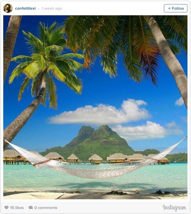 "**22. BORA BORA, FRENCH POLYNESIA**    Just northwest of Tahiti, [Bora Bora](http://www.tahiti.com/island/bora-bora|target=""_blank"") is one of the most popular islands in the South Pacific, and for good reason. With white sand beaches and turquoise waters, when you imagine the perfect beach in your head, this is it. While most resorts are located on separate islands, you can also stay in an [overwater bungalow](http://www.tahiti.com/island/bora-bora
