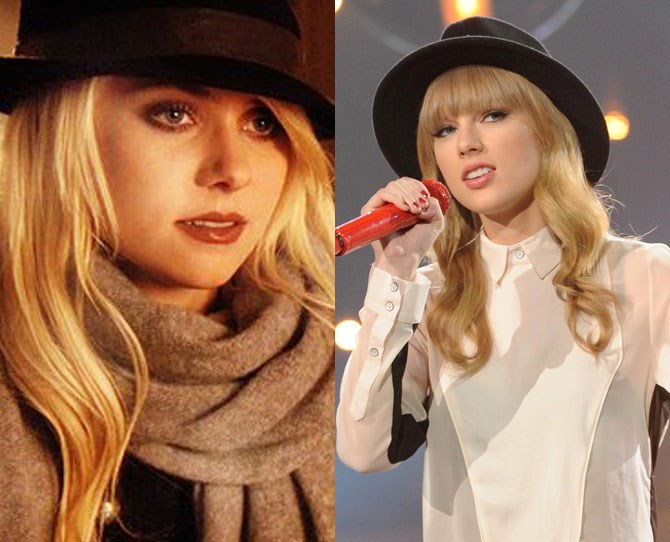 Whenever old Taylor was feeling a little bit ~edgy~ she'd always swap her berets for fedoras and bowler hats and let those blonde locks flow down. Hmmm, who else used to do that? OH THAT'S RIGHT JENNY FREAKIN' HUMPHREY.