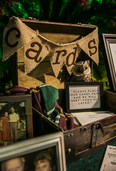 This sorting-hat card gift box is giving us LIFE.
