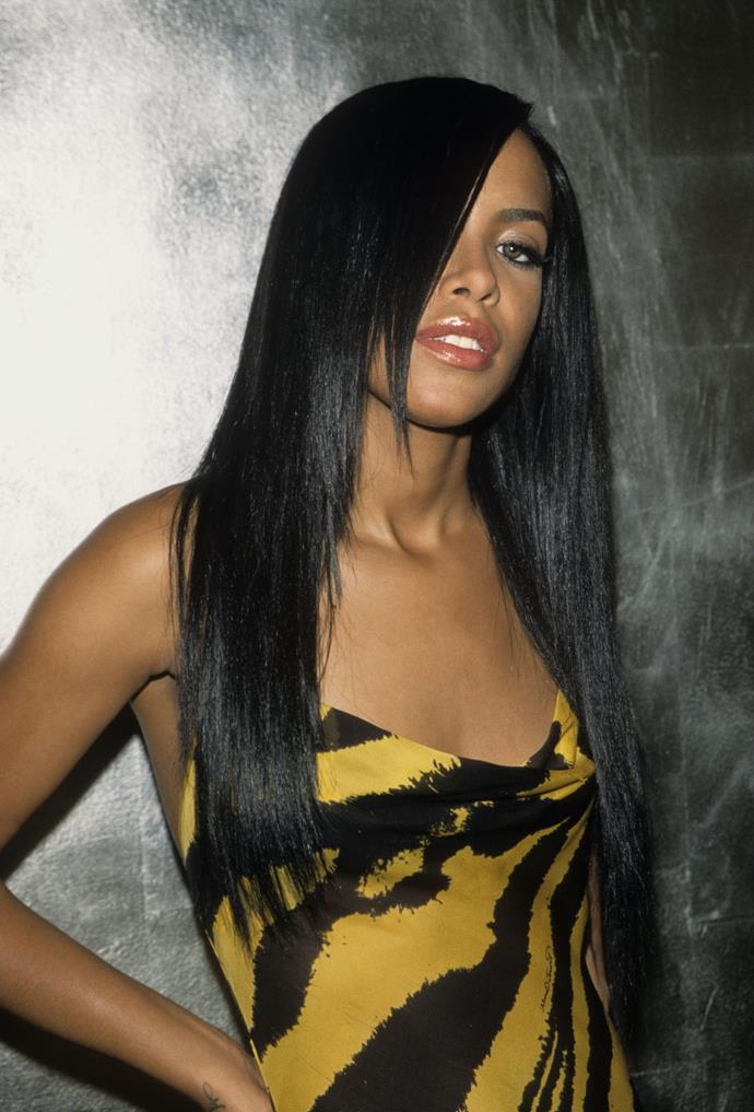 **The 'Aaliyah' fringe**<br><br>  **The celebrity muse:** Aaliyah (obviously)<br><br>  A true '90s and 2000s queen, Aaliyah's mystique-making ultra-sleek side fringe had us all heading to the hairdressers.