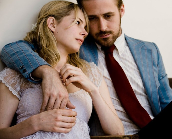**7. *Blue Valentine* (2010)** Peel away the fact that this is really, really sad movie, along with the part where Ryan gets all angry and loses some of his hair — he's basically perfect in it. Wedding-day Ryan is my favourite, right behind moving-day Ryan.