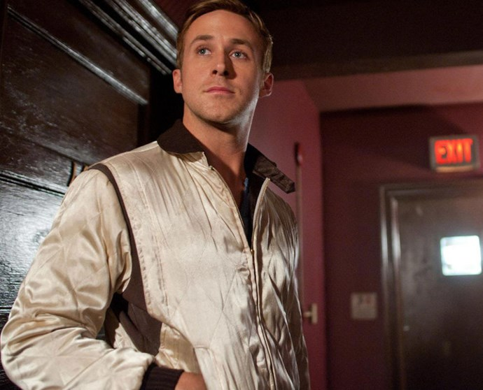 **3. *Drive* (2011)** If you ignore all the bloody and violent parts of the film, and the fact that his character is a bit strange, you get one seriously hot Ryan Gosling. The scorpion jacket is the golden cherry on top.