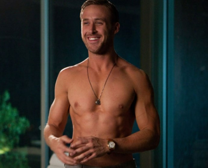 """**1. *Crazy, Stupid, Love* (2011)** Ryan is ripped in this movie. And there are so many good Ryan things to enjoy here: his beautiful abs, his perfect tan, the way he hands Emma Stone an Old Fashioned, the way he just stands there while she basks in said abs, the way he eats pizza. But really, abs.   Source: [Cosmo US](http://www.cosmopolitan.com/entertainment/movies/news/a58272/ryan-gosling-movies-ranked-hotness/