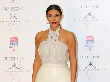 Um, Kim Kardashian just posted her pregnancy test result on Snapchat
