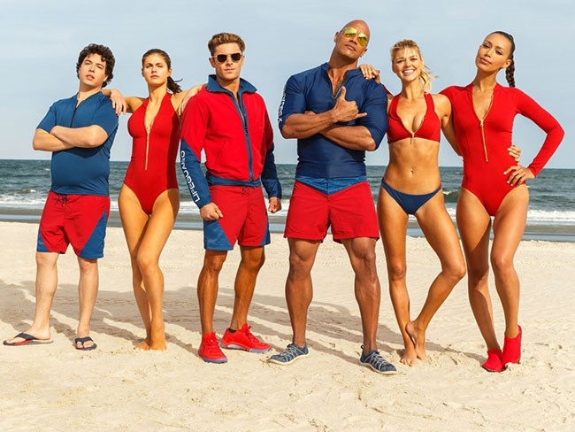 The first official cast photo for the Baywatch remake here, and it's making us wonder if this might be the hottest TV show cast of all time. All time!