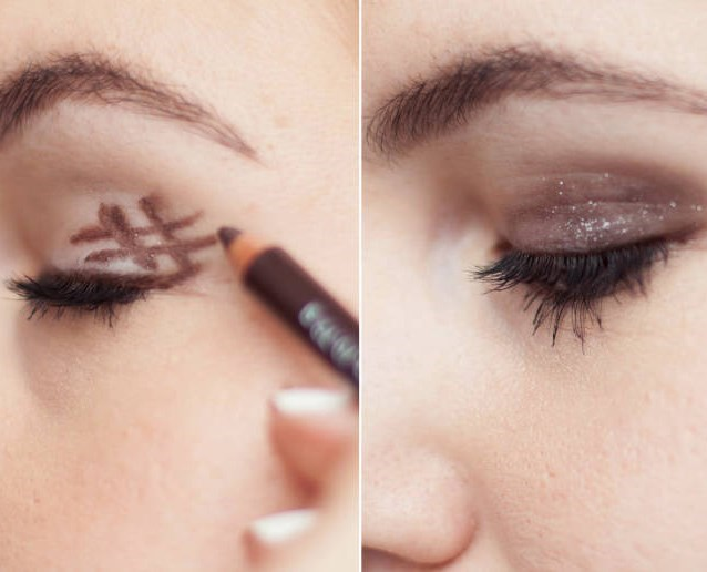 "**The foolproof smokey eye.**   Create a smokey eye in two steps with this easy idea. use an eyeliner pencil or smudge stick to draw a hashtag sign on the outer corner of your eyelid, and then blend.   Get the tutorial at [Cosmopolitan.](http://www.cosmopolitan.com/style-beauty/beauty/how-to/a31500/eyeliner-hacks-every-woman-must-know/|target=""_blank"")"