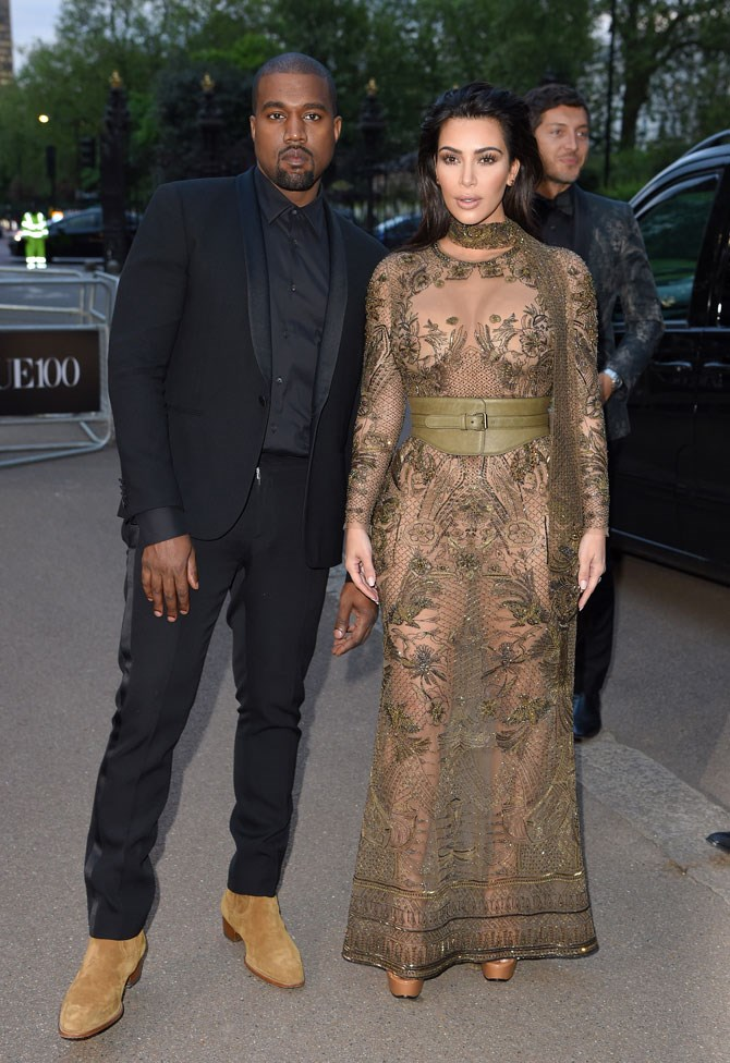 With hubby Kanye by her side (in a very enviable pair of tan suede boots, we might add), she stole the show, looking more glam than ever before.