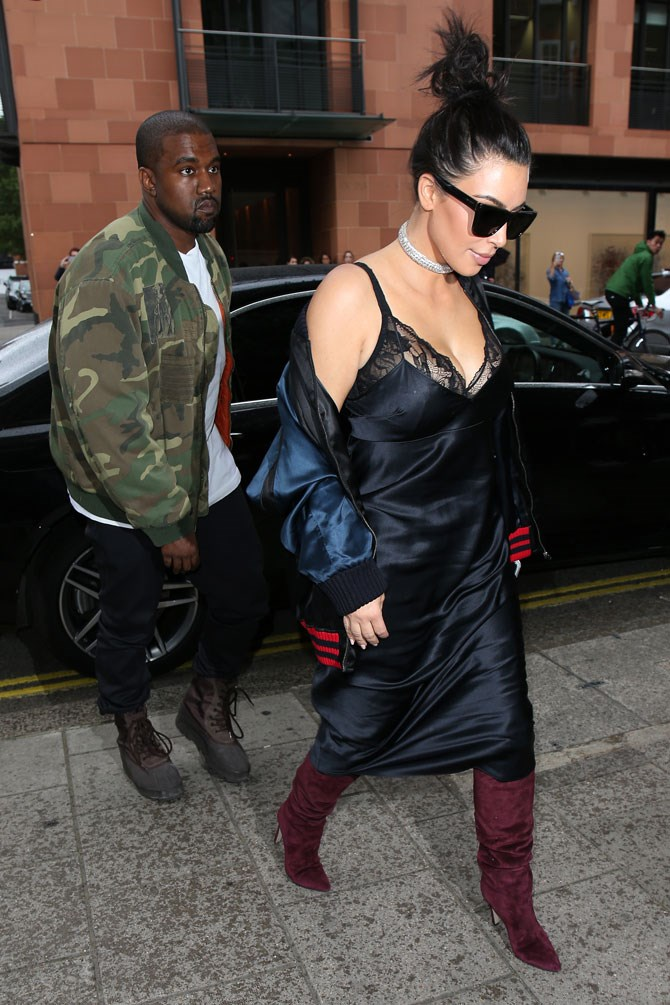How to wear lingerie as day-wear: more killer boots, a bomber jacket and a little bit of frosting.